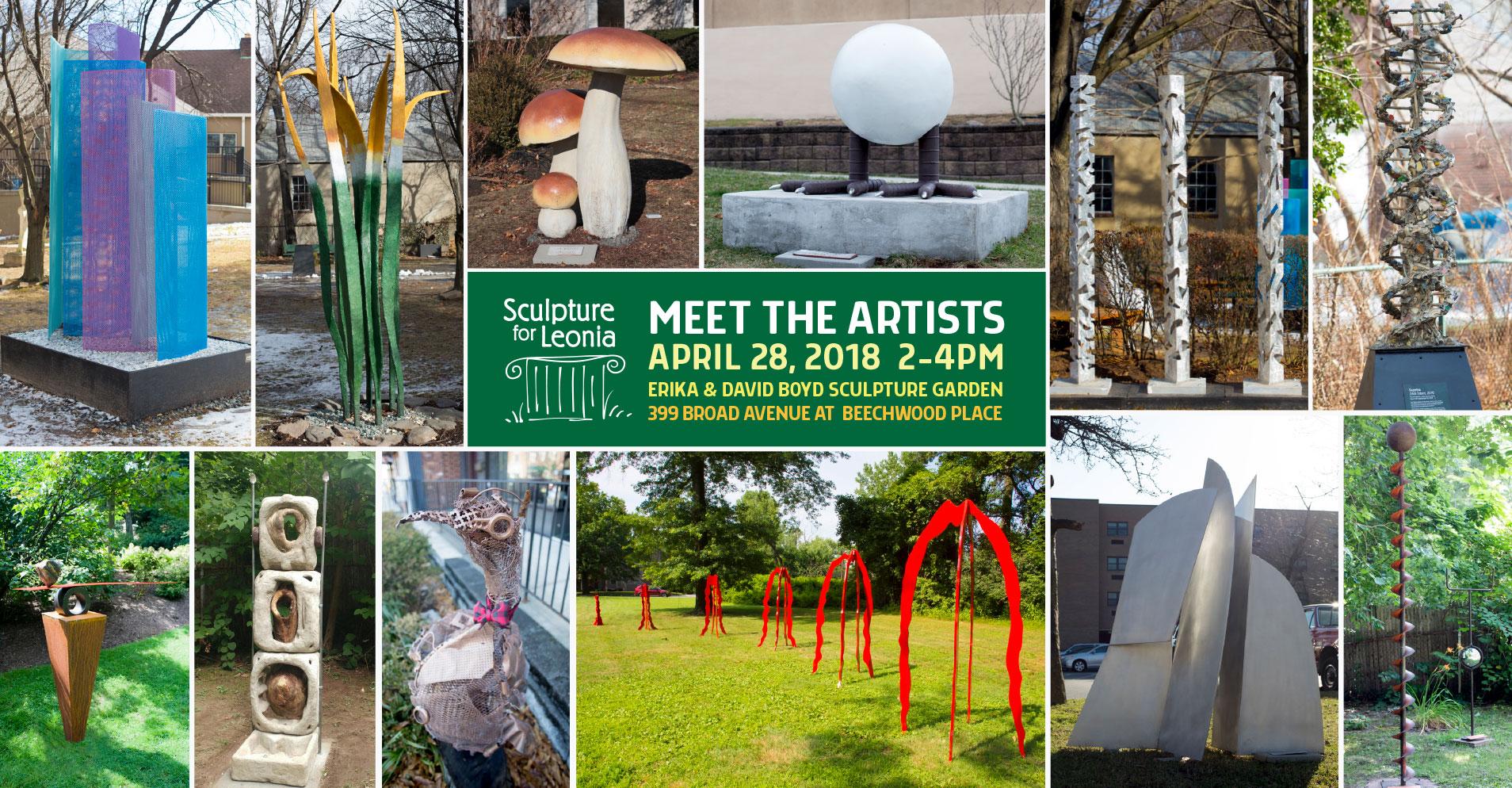 Meet the Artists: April 28, 2018 | SCULPTURE FOR LEONIA
